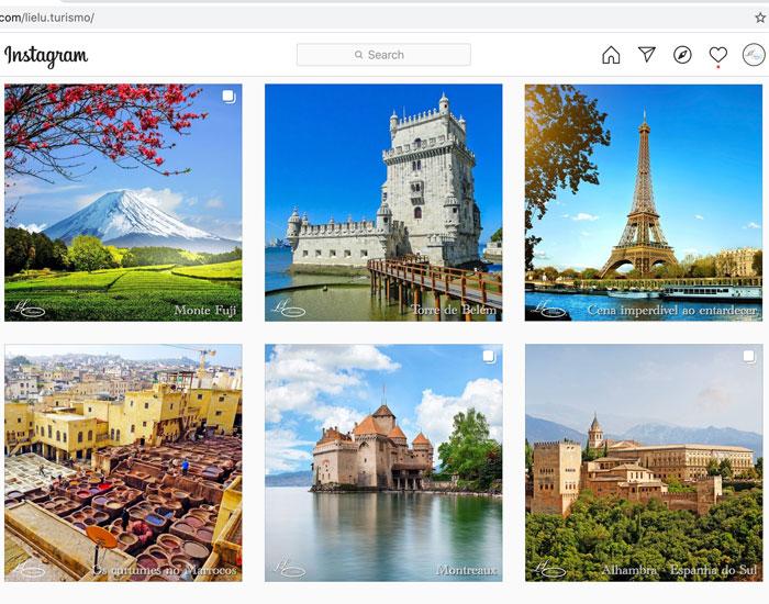Página da Lielu Turismo no Instagram